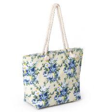 Сумка Женская Пляжная текстиль PODIUM 2019-2 blue цветочек