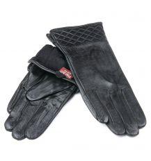 Перчатка Женская кожа F24/19-1 мод8 black флис