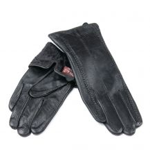 Перчатка Женская кожа F24/19-1 мод10 black флис