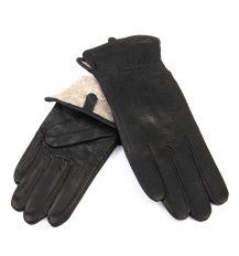 Перчатка Женская кожа-олень F33/19 мод1 black шерсть