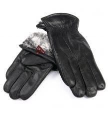 Перчатка Мужская кожа M24/19 мод2 black мех серый