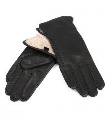 Перчатка Женская кожа-олень F33/19 мод4 black шерсть