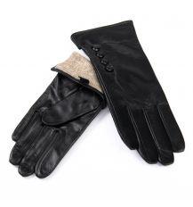 Перчатка Женская кожа F31/19 мод5 black шерсть