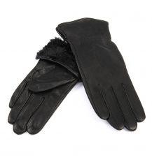 Перчатка Женская кожа-олень F33/19-1 мод1 black Флис