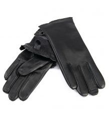Перчатка Женская кожа F31/19-1 мод4 black флис