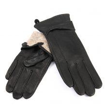 Перчатка Женская кожа-олень F33/19 мод3 black шерсть