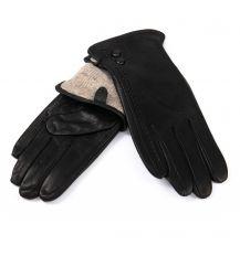 Перчатка Женская кожа-олень F33/19 мод6 black шерсть