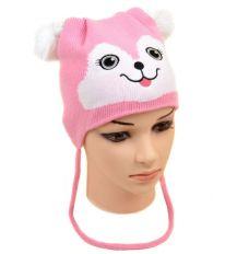 Шапка Детская вязка 1118 pink Распродажа
