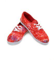 Кеды 922 Flower-red 36(р) Распродажа